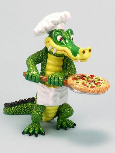 Alligator-Pizza Chef  by Ron Lee