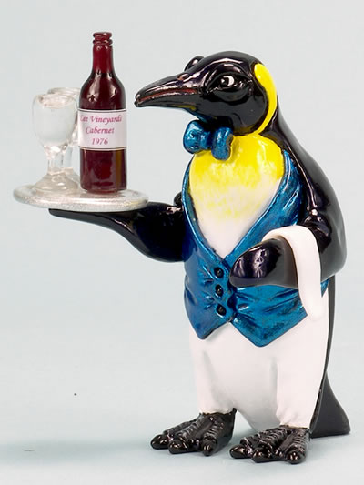 Penguin-Sommelier (Wine Server) by Ron Lee