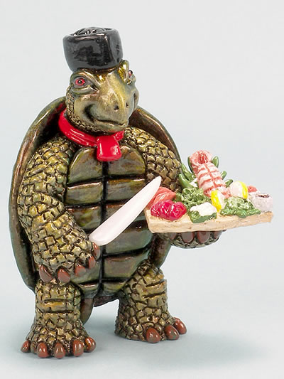 Turtle-Sushi  Chef by Ron Lee