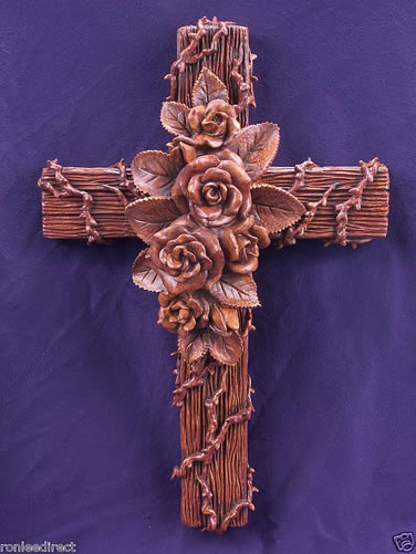 Rose Garden Cross  by Ron Lee