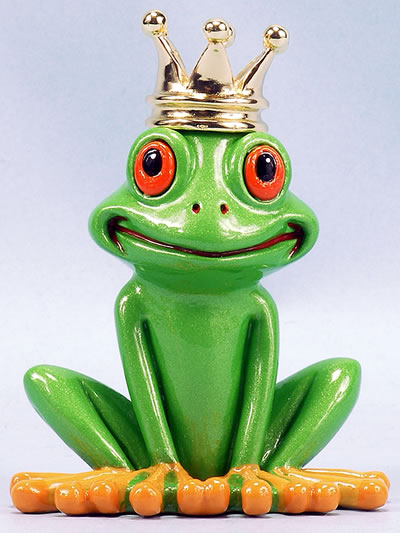 Frog with Crown by Ron Lee