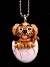 Hatched Puppy Pendant by Ron Lee